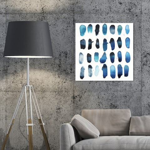 Oliver Gal 'Drops of Serenity' Abstract Wall Art Canvas Print - Blue