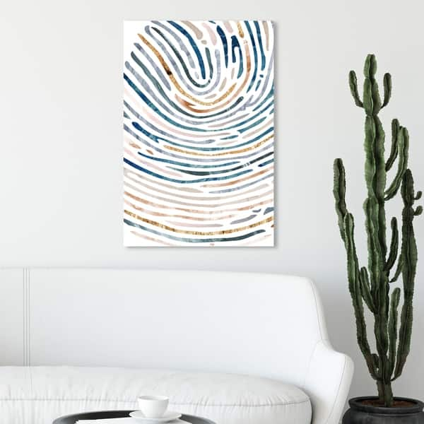 Oliver Gal All Paths Abstract Wall Art Canvas Print Blue Gold Overstock 28585247