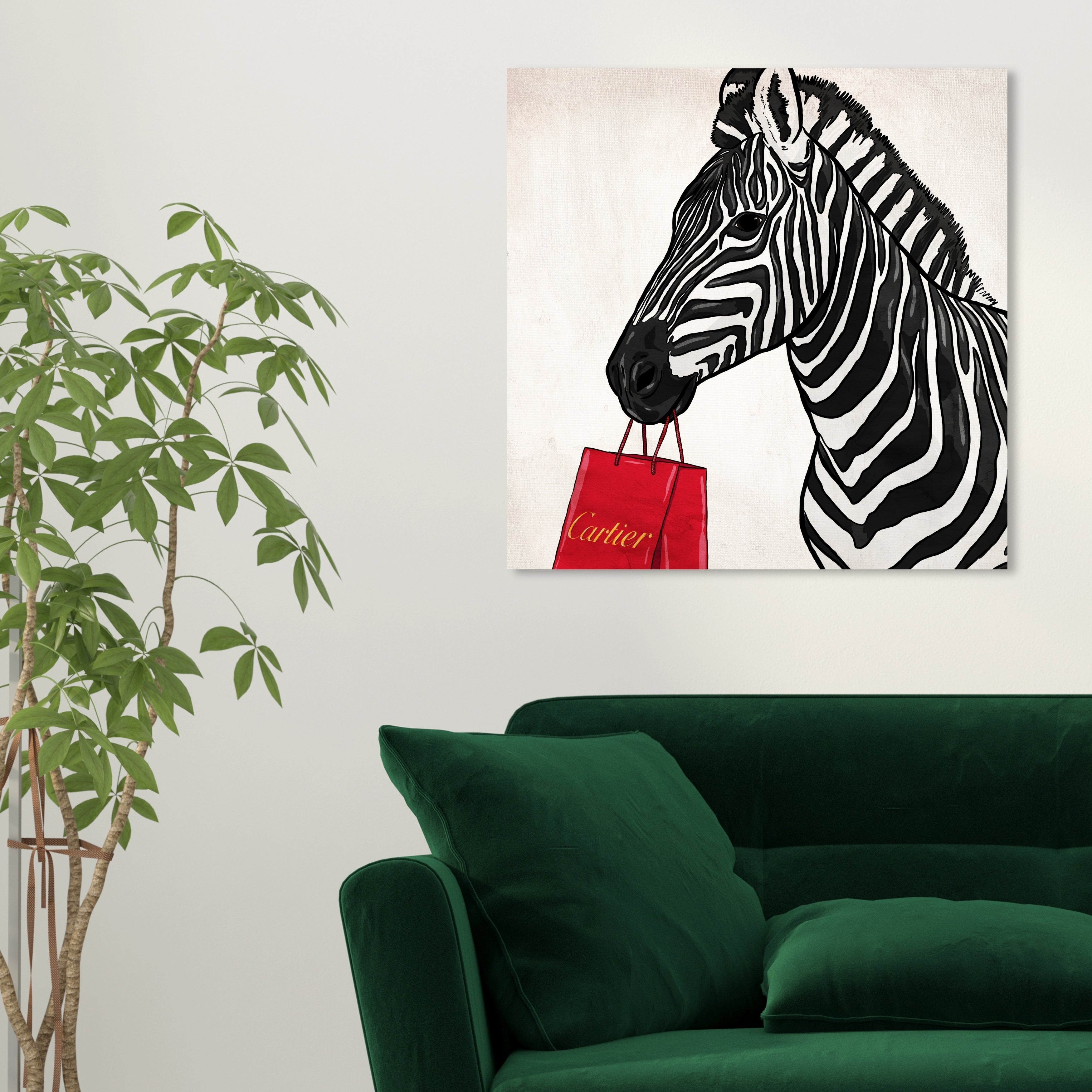 Oliver Gal 18882 Expensive Zebra Fashion And Glam Wall Art Canvas Print Red Black Overstock 28585274 40 X 40