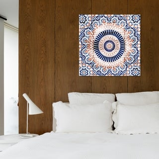 Link to Oliver Gal '23339 Mandala Terracotta' Abstract Wall Art Canvas Print - Blue, Orange Similar Items in Vinyl Wall Art