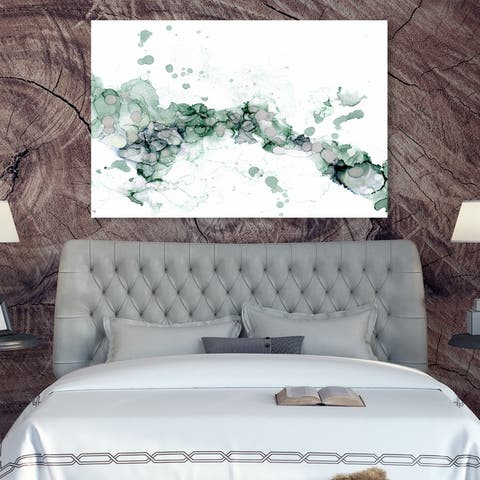Oliver Gal 'Jamie Blicher - Diana Teal' Abstract Wall Art Canvas Print - Green, White