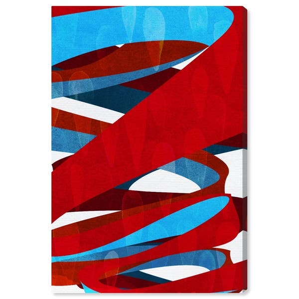 Oliver Gal Spiral Paths Abstract Wall Art Canvas Print Red Blue Overstock 28585595