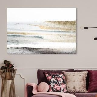 Oliver Gal 'Beach Landscape White' Nautical and Coastal Wall Art Canvas Print - Gold, White