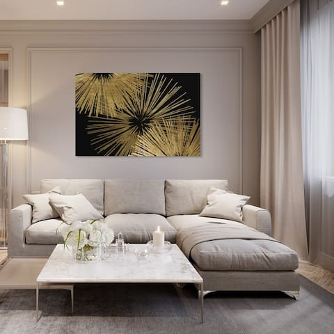 Oliver Gal 'Sunburst Glam Luxe' Abstract Wall Art Canvas Print - Gold, Black