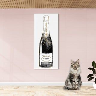Oliver Gal 'Trendy Milan Champagne Tall' Fashion and Glam Wall Art Canvas Print - White, Gold