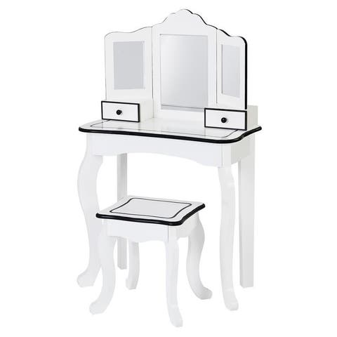 Teamson Kids - Little Lady Adriana Play Vanity Set - Vanity table :23.5x12x39""