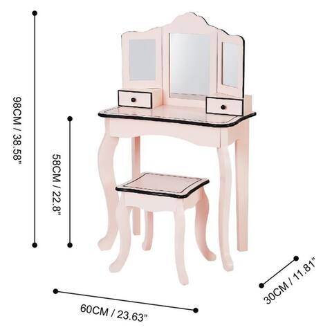 "Teamson Kids - Little Lady Adriana Play Vanity Set - Vanity table :23.5x12x39"""