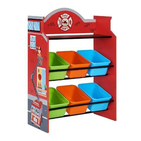 Fantasy Fields - Little Firefighters Toy Organizers with Storage Bins