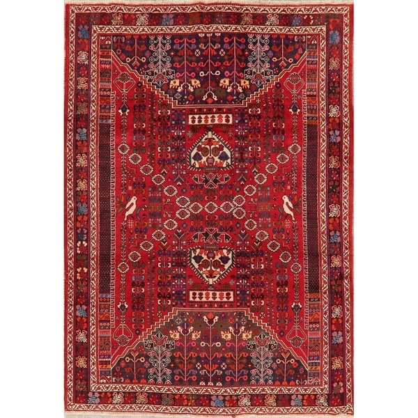 "Kashkoli Oriental Hand Knotted Wool Persian Tribal Area Rug - 9'6"" x 6'9"""
