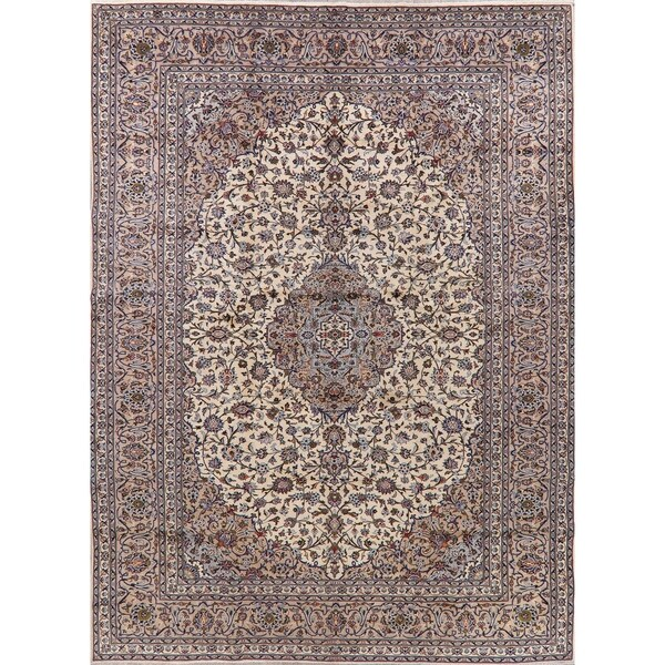 "Kashan Oriental Hand Knotted Wool Persian Vintage Medallion Area Rug - 13'1"" x 9'8"""