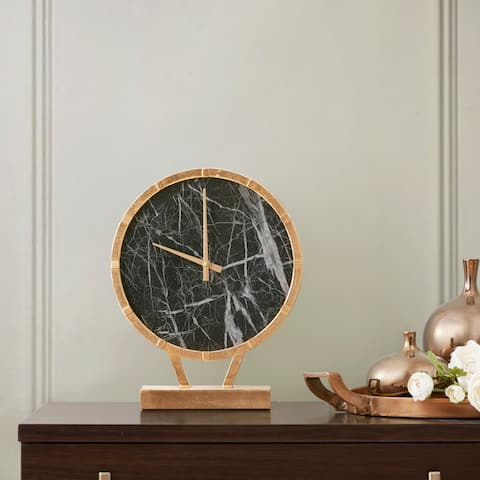 "Madison Park Signature Kensington Gold/ Black Clock - 12""Lx3.1""Wx14.8""H"