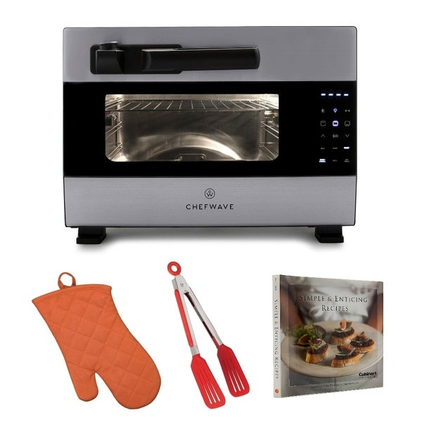ChefWave Digital Countertop Rotisserie Pressure Oven w/ Accessory Kit