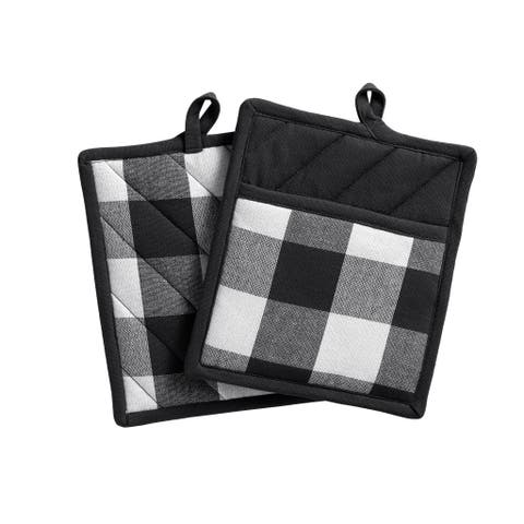 The Gray Barn Emily Gulch Buffalo Check Pot Holder Pair