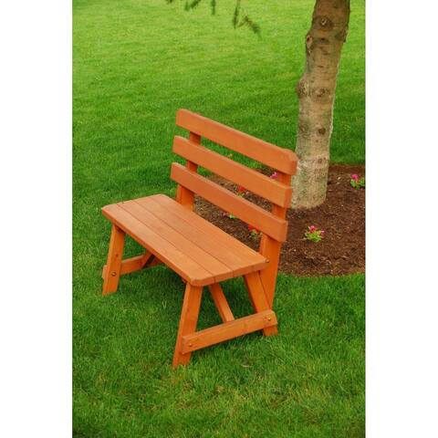 3 Foot Pine Backed Picnic Bench