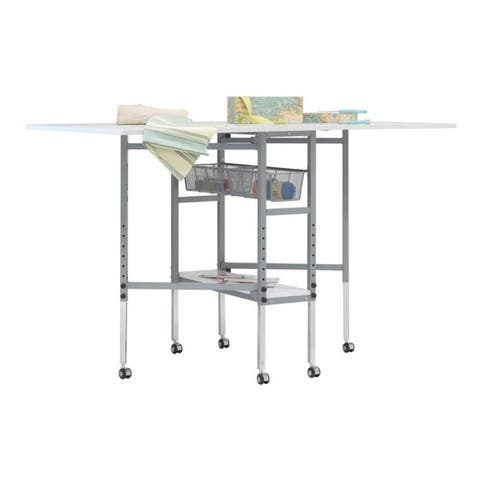 Sew Ready Mobile Folding Adjustable Fabric Cutting Quilting Table