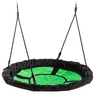 "Swing-N-Slide 40"" Nest Swing - Green with Black Ropes - 40"" L x 40"" W x 70"" H"