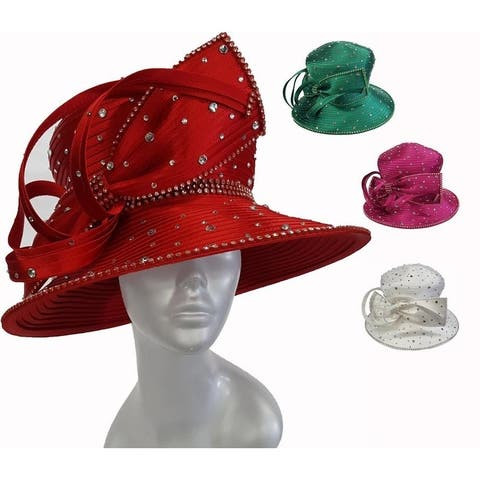 Women's designer couture special occasion hat is perfect for church