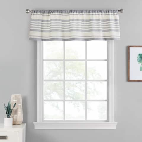 Porch & Den Tennyson Stripe Pattern Window Valance