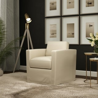 Link to Copper Grove Ana Swivel Arm Chair Similar Items in Living Room Chairs