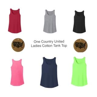 One Country United Ladies Cotton Tank Top