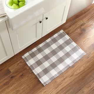 The Gray Barn Emily Gulch Buffalo Check Woven Kitchen Mat