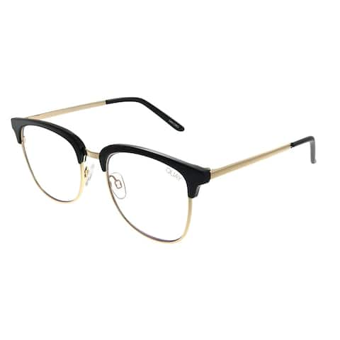 720da365b Quay Australia QM Evasive BLK/CLRBLT Womens Black on Gold Frame Eyeglasses  49mm