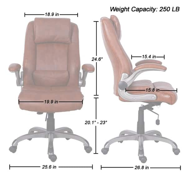 Terrific Shop Ergonomic High Back Office Chair Flip Up Arms 360 Dailytribune Chair Design For Home Dailytribuneorg