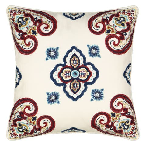 Waverly Paisley Pizzazz 18x18 Embroidered Decorative Pillow