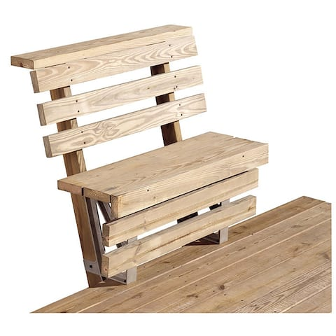 2x4basics Dekmate Deck Bench Bracket - Sand, Single