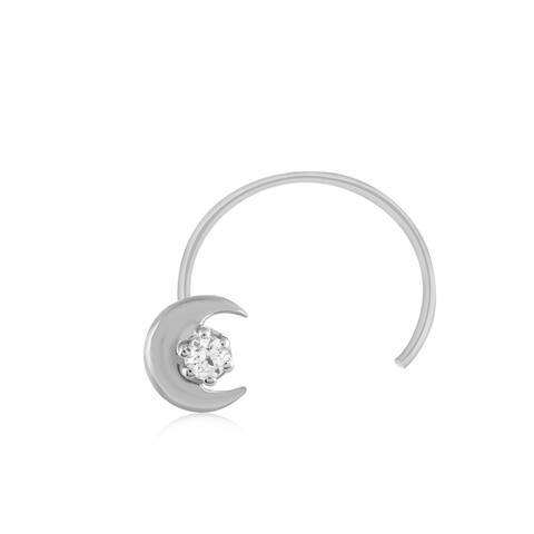 .925 Sterling Silver Genuine Natural Diamond Nose Stud Ring Pin