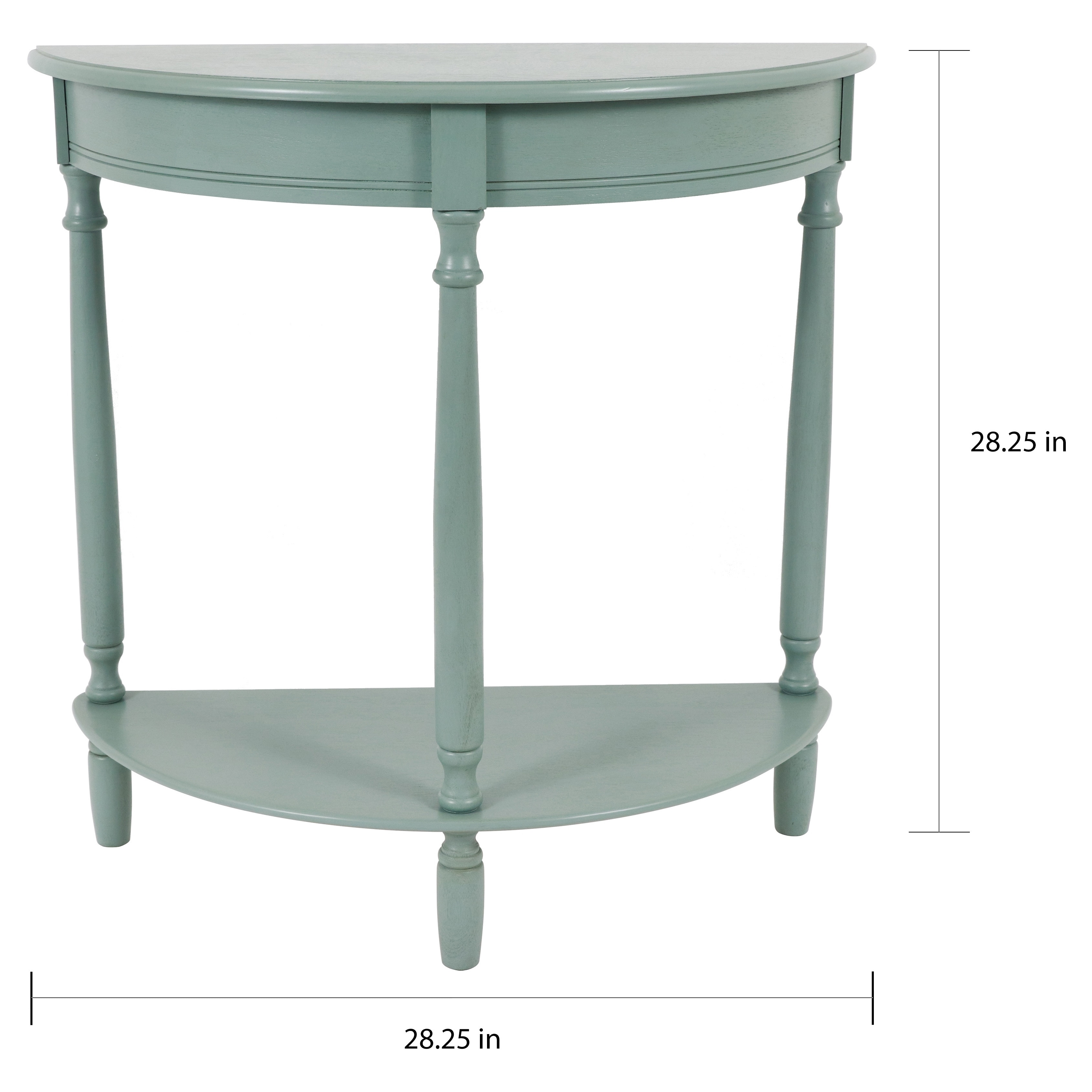 Picture of: Copper Grove Braunau Half Circle Round Accent Table On Sale Overstock 28587050 Antique Iced Blue N A
