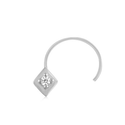 .925 Sterling Silver Real Diamond Nose Stud Ring Pin