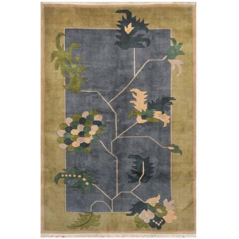 Handmade One-of-a-Kind Tibetan Wool Rug (India) - 6'6 x 9'6