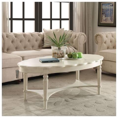 Urban Designs Devine 50-inch Coffee Table - Antique White
