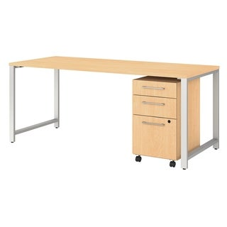 Bush Business Furniture 400 Series 72W Table Desk with File Cabinet