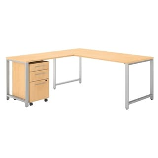 Bush Business Furniture 400 Series 72W L Shaped Desk with File Cabinet