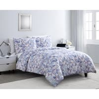 VCNY Home Sky Geo Purple Duvet Cover Set