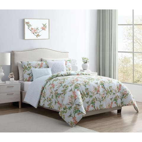 VCNY Home Chelsea Springs Reversible Floral Duvet Cover Set