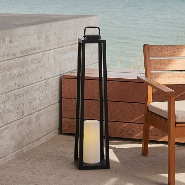 Roon 32-inch Lantern with Flameless Candle by Havenside Home. Opens flyout.