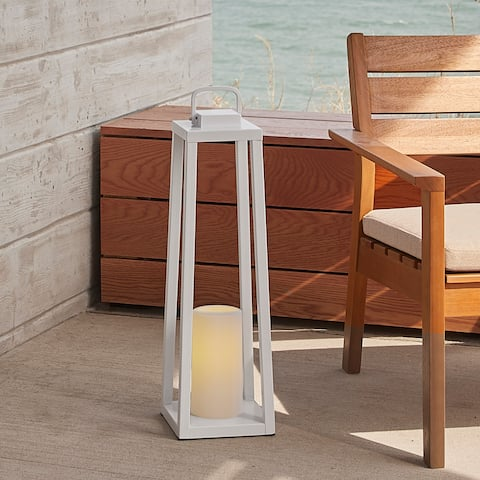Redvale 24 Inch Lantern with Flameless Candle