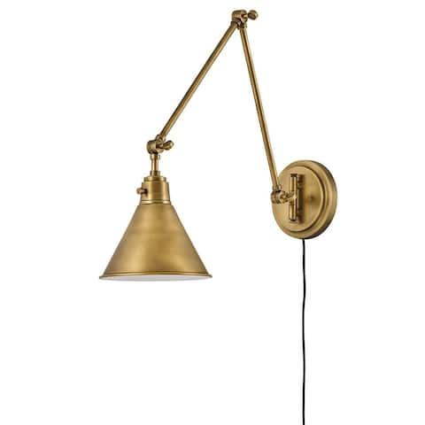 Hinkley Arti 1-Light Sconce in Heritage Brass
