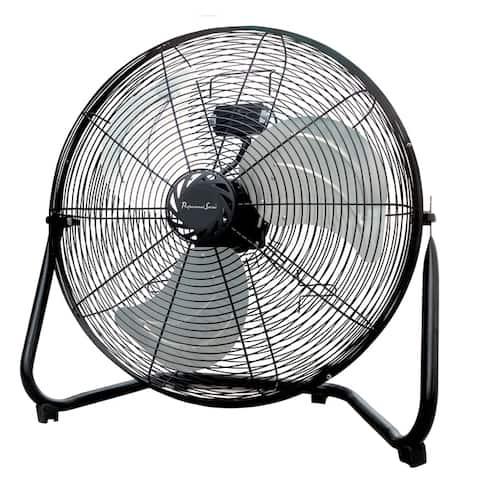 "Professional Series 18"" Floor Fan Aluminum Black"