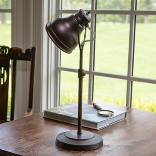 Desk Task Table Lamp with Adjustable Shade