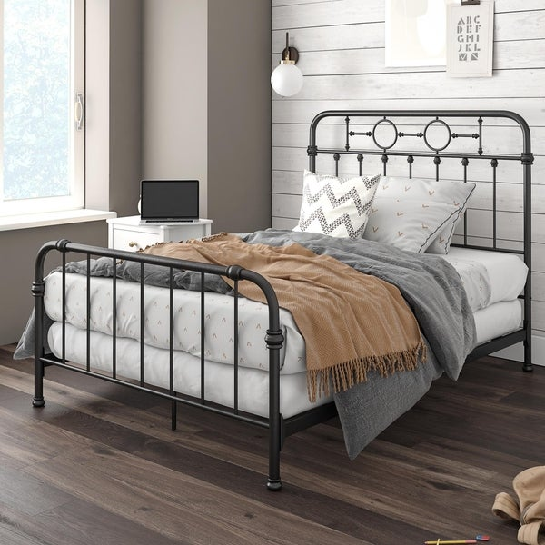 Little Seeds Willow Black Metal Kids' Full Size Bed