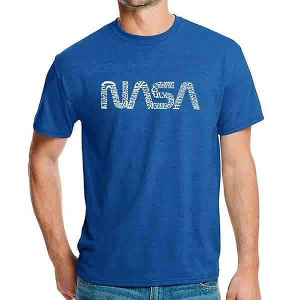 Mens Premium Blend Word Art T-shirt - NASA Worm - LA Pop Art