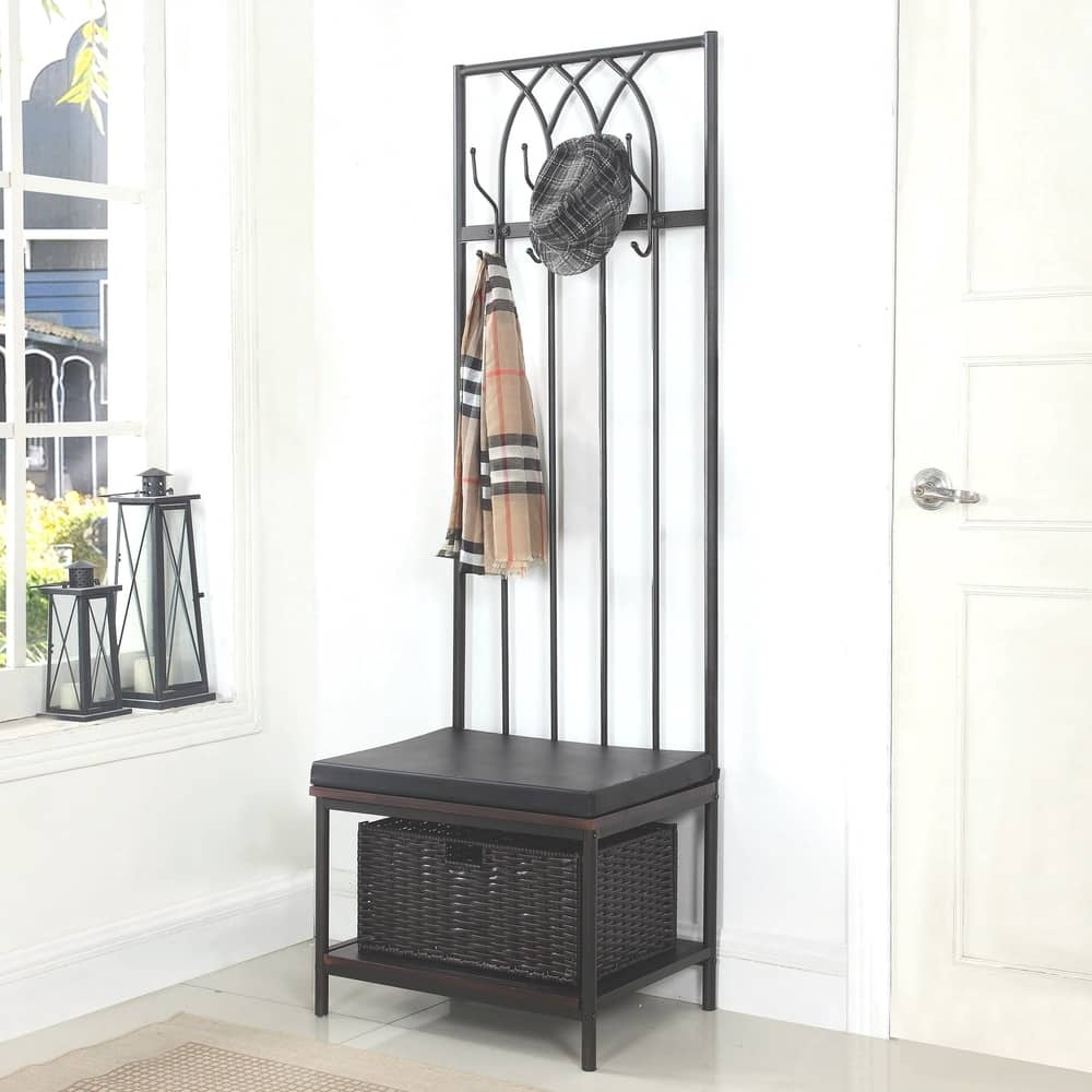 Fantastic Shop Transitional Hall Tree Coat Rack With Storage Bench Ibusinesslaw Wood Chair Design Ideas Ibusinesslaworg