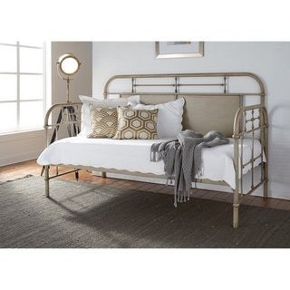 Vintage Series Distressed Cream Twin Metal Day Bed