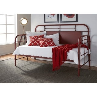 Vintage Series Red Twin Metal Day Bed