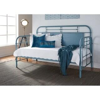 Carbon Loft Cauthen Vintage Series Blue Twin Metal Day Bed