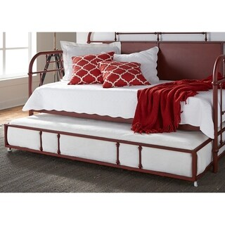 Carbon Loft Ivvie Red Twin Metal Trundle
